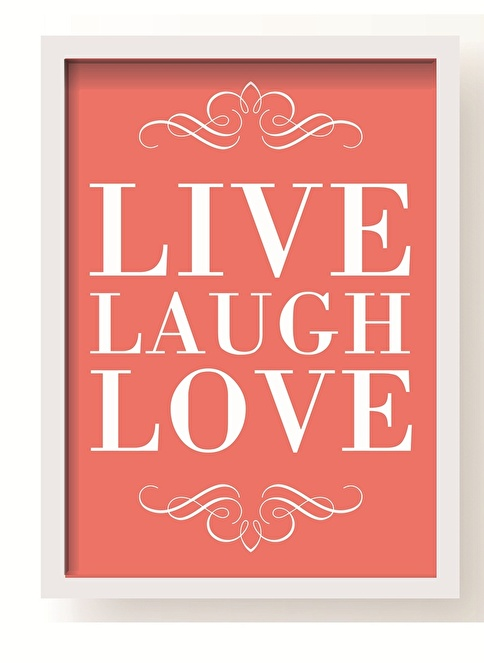 All About Wall Live Love Poster Pembe